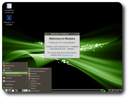Manjaro Linux 0.8.2 LXDE