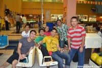 San Miguel Davao Brewery Brewing Department personnel enjoying bowling at NCCC B3