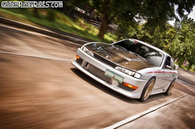 Silver Nissan S14 Silvia Custom Pinoy Rides
