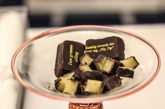 Fortune cookie-agtige chokolader
