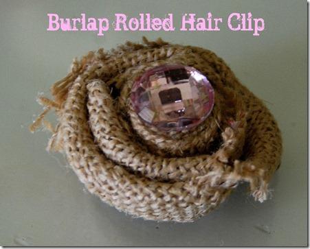 burlap hair clip