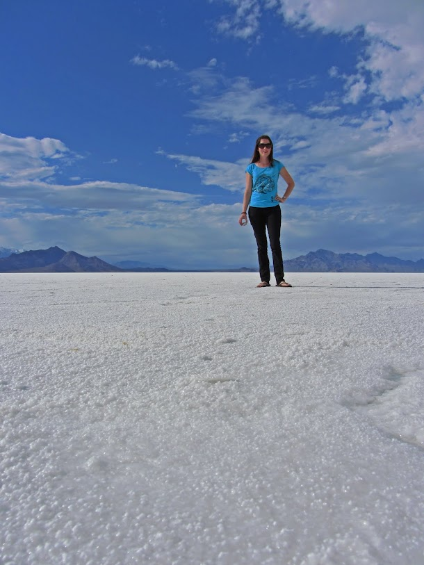 Low Angle of Renee and the Salt Flats