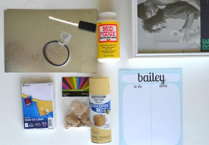 Chore Chart supplies