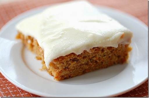 Carrot Sheet Cake With Cream Cheese Frosting Recipe — Dishmaps