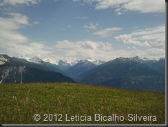 Vista do alto de Crans-Montana verão