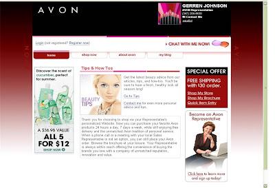 Avon Representative Website-Gerren Johnson