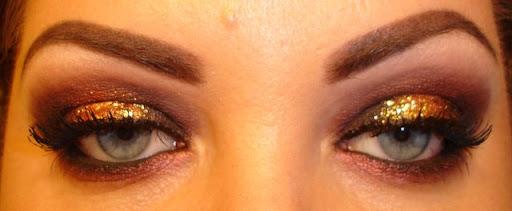MAC Gold Glitter with Sketch eyeshadow