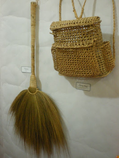 Broom and Rattan Bag