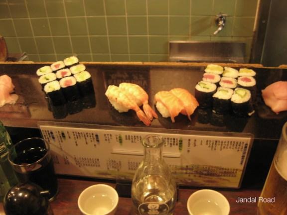 Sushi in Kyoto, Japan