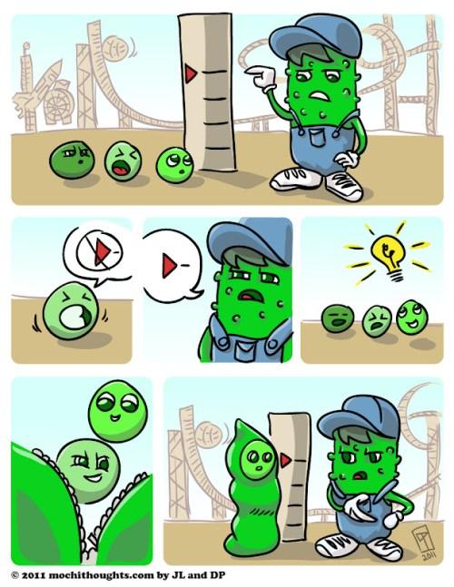 Cute Comic, Peas in a Pod Ride