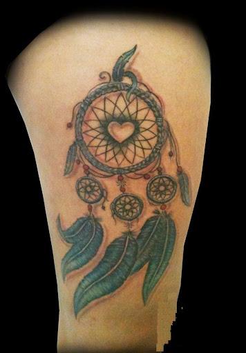 Dreamcatcher Tattoos on thigh