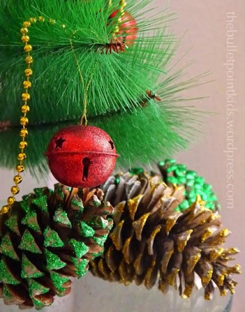 Ozdobné šišky vánoční dekorace děti