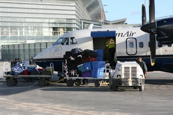 In einer ATR42 der Calm Air ging es an die Hudson Bay