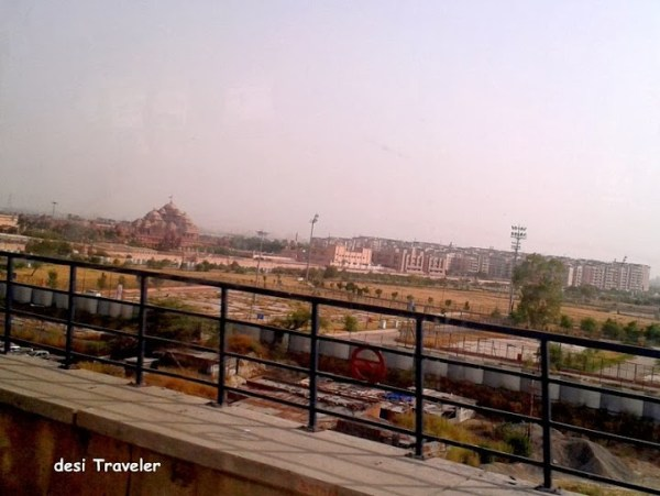 Akshardham Temple from Metro