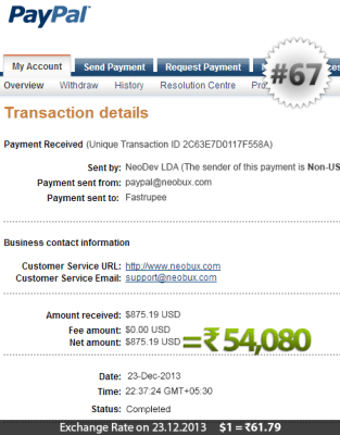 Neobux Payment Proof 67