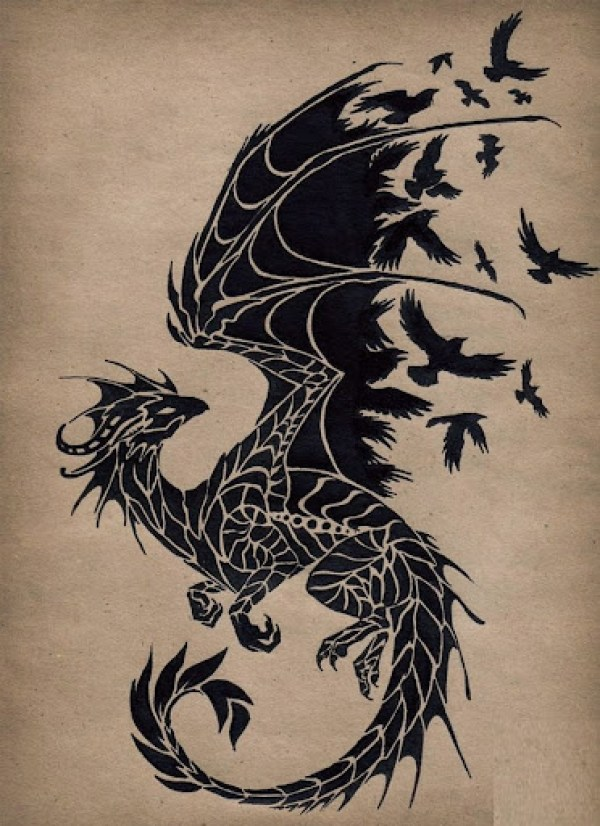 best dragon drawing pictures outline