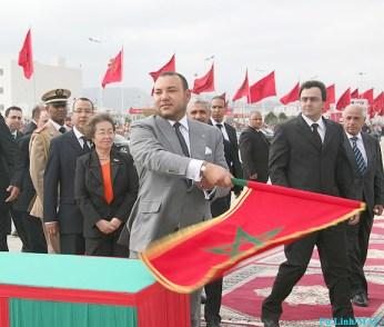 Mohammed VI inaugurating a road in El Jabha-Tetouan