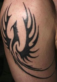 black Phoenix tattoo designs