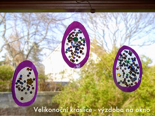 Velikonoční kraslice ozdoby na okno
