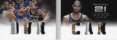 12/13 Panini Preferred Tim Duncan Book Jersey