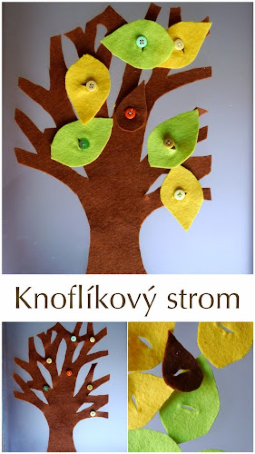 Montessori knoflíkový strom