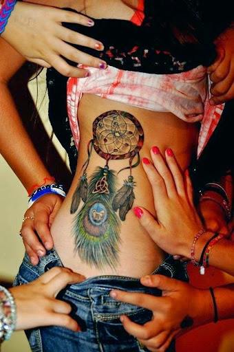 peacock feather Dreamcatcher Tattoos