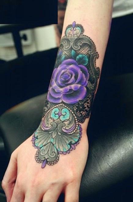 rose tattoos on hand