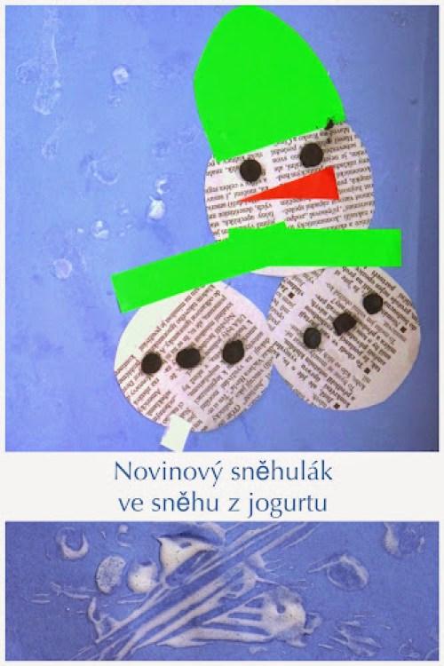 Tvoření sněhuláka s malými dětmi