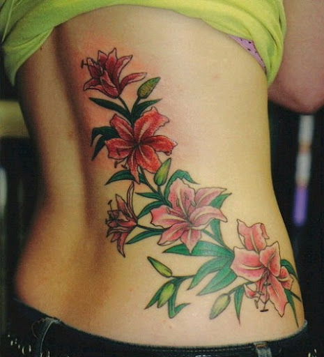 Hawaiian Flower Tattoo