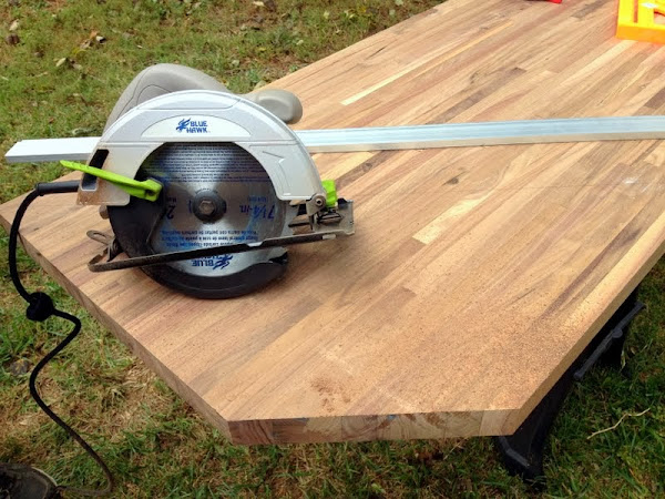how to cut angled countertop