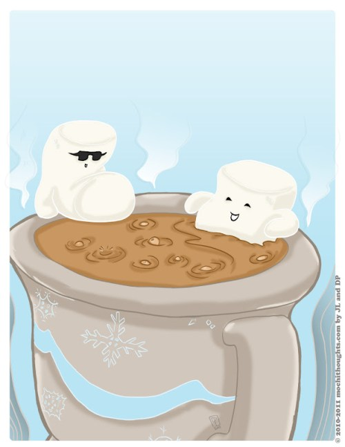 Marshmallows Do want to hang out in your hot chocolate.