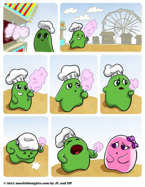 Cute Webcomic, Mochi Cotton Candy