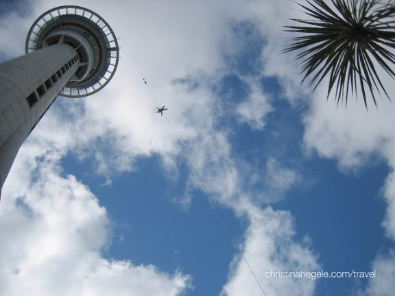 Auckland Sky Tower with Jumper