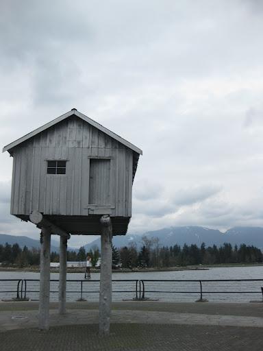 House on Stilts, Coal Harbour, Vancouver