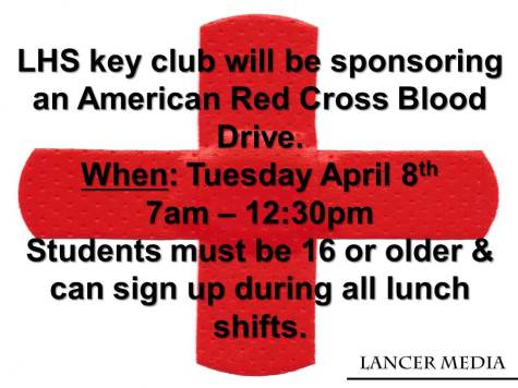 Key Club sponsors blood drive on April 8th
