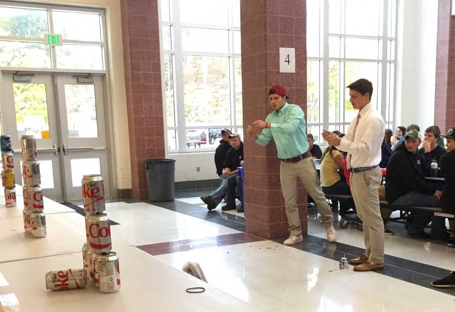 Photo of the Day 10/22/14: Lunch competition involves rubber bands and cans