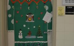 Door decorating brings out the competitive spirit:  Photo of the day 12/11/2014
