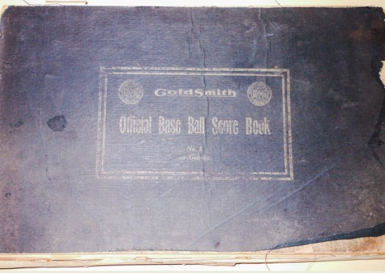 Goldman Official Base Ball Score Book Front Cover