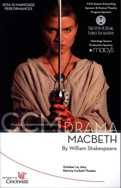 Program for Macbeth at CCM