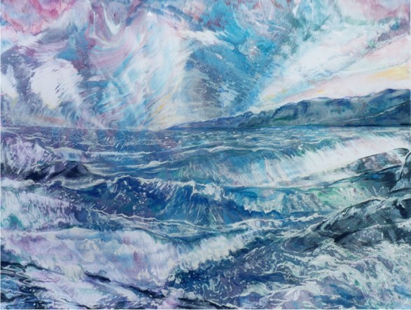 """C95 'Loch na Cille' mixed media 27 x 20"""""""