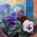 N7 Pansies and Mirror 10 x 8in £280