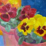 N5 Pansies bright 10 x 8in  £280