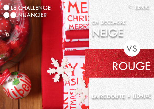 Color Match #12 : Neige Vs Rouge Paillettes | Libelul Aka. Jane