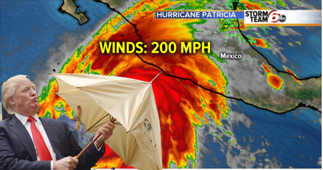 trump hurricane patricia mexico