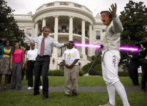 obama light saber using force