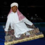 Photograph Shows Obama Flying Magic Carpet While Wearing Terror Clothing