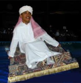 obama flying magic carpet