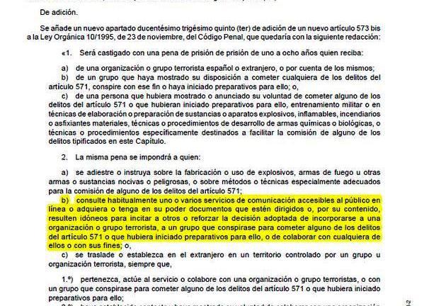 Enmienda Código Penal