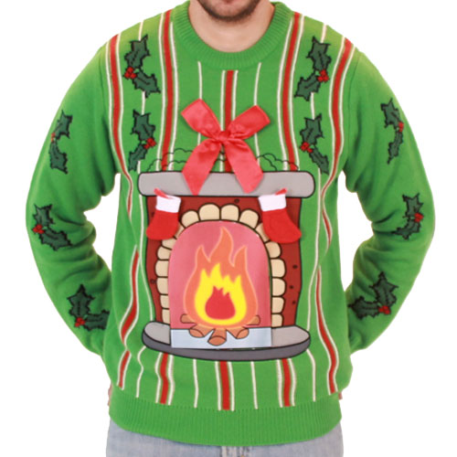 led fireplace sweater front クリスマスに着るダサいセーターを画像でご紹介!通販も