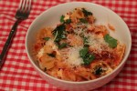 kale red pepper baked pasta recipe | librarian style